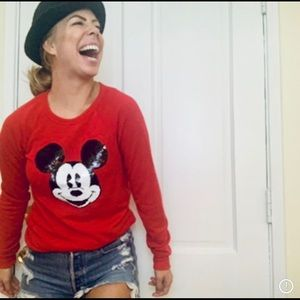 Disney sequin Red sweater small